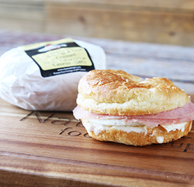 Breakfast Sandwich, Ham Egg & Swiss Croissant, 4.2oz, IW