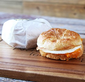 Breakfast Sandwich, Croissant, Bacon Egg Cheddar, IW, 3.5oz, AA