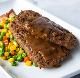 Meatloaf Patty, Beef, Homestyle, 3oz, AA