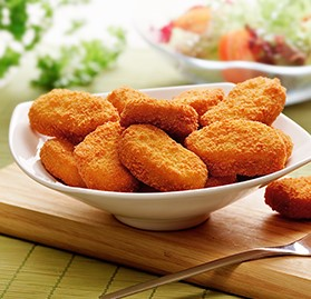 HALAL, Chicken Nugget, Breaded, Cooked, 0.75oz