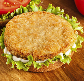 Patty, Breaded, Cooked, 3oz