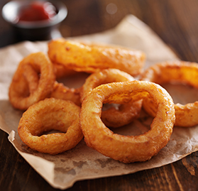 "3/8"" Battered Onion Rings, Whole"