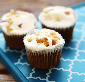 Cupcake, Mini, Carrot, Walnut, Cream Cheese Frosting, 0.9oz, AA