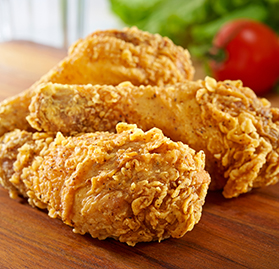 Bone-In, Drumsticks, Breaded, Homestyle, Cooked