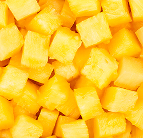 Fruits, Pineapples, Chunks, 1/12, IQF, AA