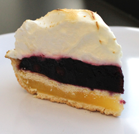 Pie, Lemon with Blueberry Meringue Layered, 10 Slices