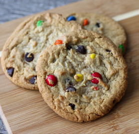Cookies, Baked, Chocolate Chip with Candy, 1oz, Thaw and Serve