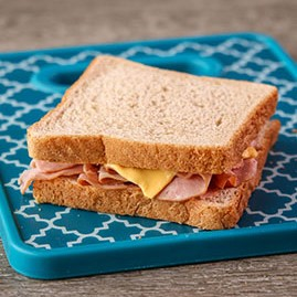 Ham and Cheese Sandwich on WG White Sliced Bread, IW
