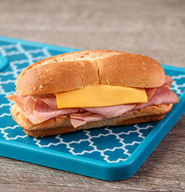 Ham and Cheese Sandwich on WG White Sub Bun, IW