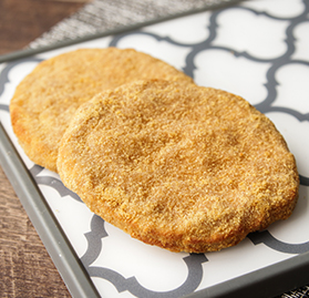 Patty, Breaded, Cooked, Low Sodium, 3oz, AA