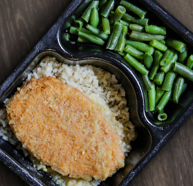 Kosher Meal, Teriyaki Chicken Cutlet, Brown Rice, and Green Beans, 11.6oz, AA