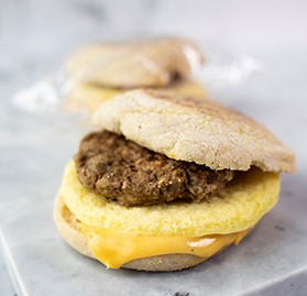 Breakfast Sandwich, Muffin, Sausage, Egg & Cheese, 3.5oz, WG, IW