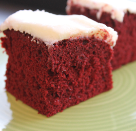 Cake, Red Velvet w/Cream Cheese Icing, 1/2 Sheet