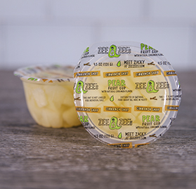 Pear Fruit Cup, Cinnamon Snap, 4.5 oz image