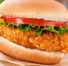 Fillet, Breaded Chicken Breast, Fried, FC, 6 oz.