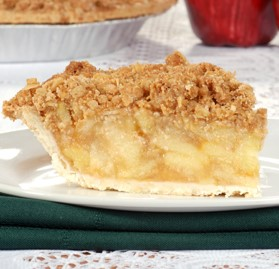 Pie, Apple, Oatmeal Crumb Topping, 10""