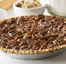 Pie, Pecan, Pre-Cut Slices, 10""