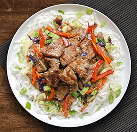 Beef, Sliced, Marinated, For Stir Fry, UC (SOY FREE)