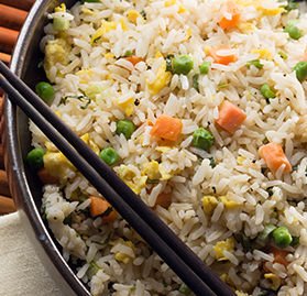 Fried Rice, w/Vegetables, Cooked