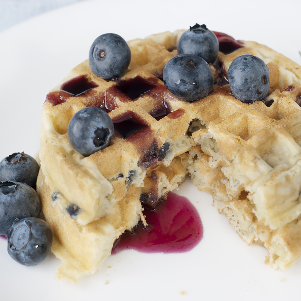 Waffles, Round, Blueberry, Chocolate Chip or Maple Flavored, 1.25oz