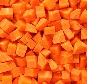 Vegetable, Carrots, Diced, IQF