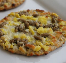 Flatbread, Sausage Egg Chs, Whole Grain, Individually Wrapped, CN