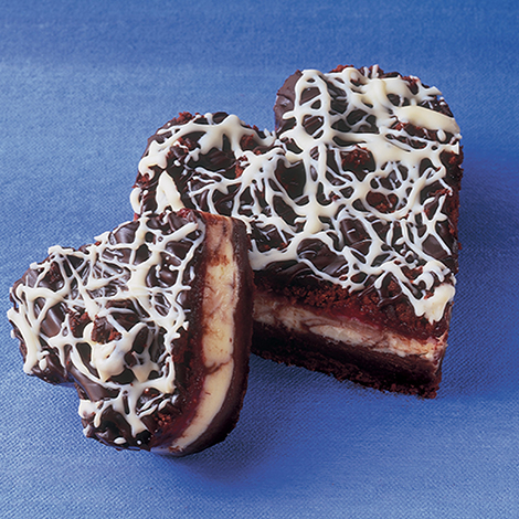 Dessert Bar, Chocolate Brownie with Raspberry/Cream Cheese Filling, 55 oz.