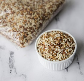 Blend, Farro, Red Quinoa and Rice, IQF, FC