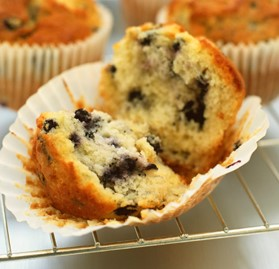 Individually Wrapped Whole Grain Blueberry Muffin.