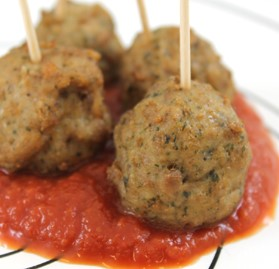 Italian Style with Cheese Pork and Beef Meatballs