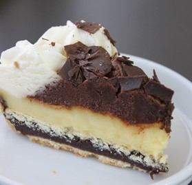Pie, Banana Cream & Chocolate Ganache Layered, 8 Pre-Cut Slices, 9""