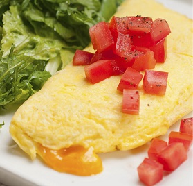 Eggs, Omelet, Cheddar Cheese Sauce Filled, FC, 3.5oz, IQF, AA