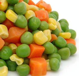 Vegetable Blend, Carrots, Corn & Peas IQF Bulk