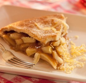 Pie, Apple, Baked, Unsliced, 10""
