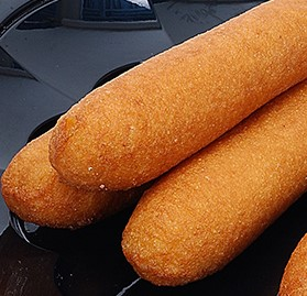 Corn Dog, Chicken Frank, STICKLESS, 2.5 oz.