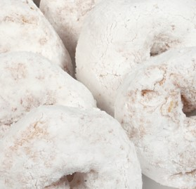 Donut, Powdered Sugar, Individually Wrapped, 3 oz