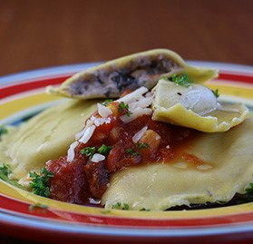 Black Bean and Roasted Corn Ravioli