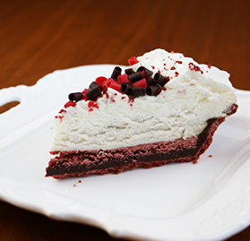Pie, Luxe Layered Red Velvet, Crm Cheese Mousse, Choc Ganache, 10 Slices