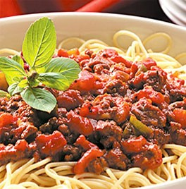 Add water only mild spaghetti sauce. Reduced Sodium! Vegetarian. 1 case yields 22 gallons of sauce!