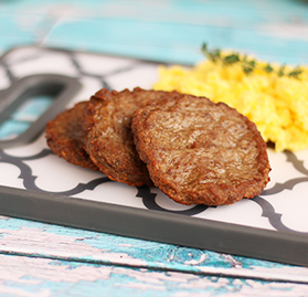Breakfast Sausage, Patty, Turkey, 1.1oz, Cooked