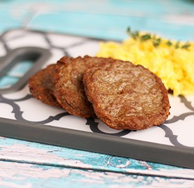Breakfast Sausage, Patty, Turkey, Maple, FC, 1.5 oz, AA