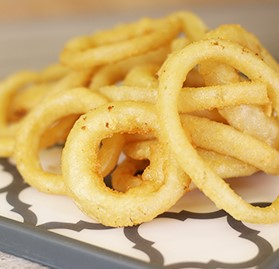 "Onion Rings, Battered, Whole Onion, 1/4""-3/4"""