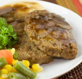 Dinnerloaf, Beef/Chicken, Fully Cooked, 3oz