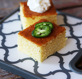 Cake, Cornbread, 1/2 Sheet, 30 Pre Cut Portions per 1/2 Sheet