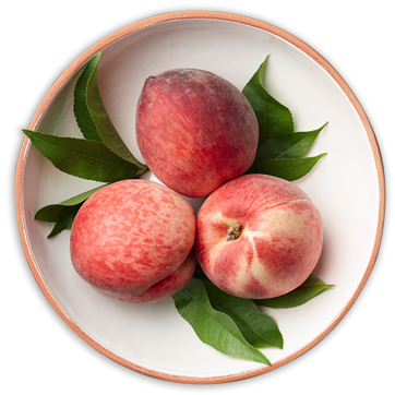 Bowl with three nectarines