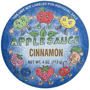 Applesauce cup label