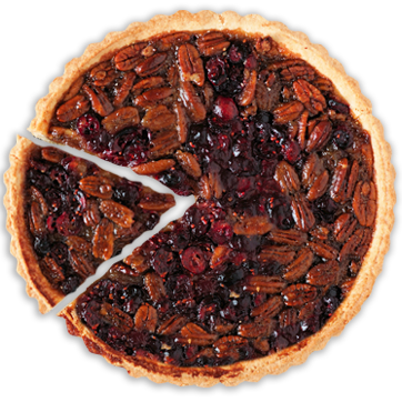 Pecan Pie with a slice cut out