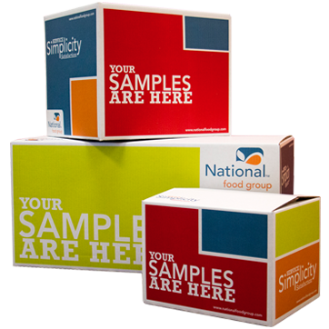 National Food Group sample boxes